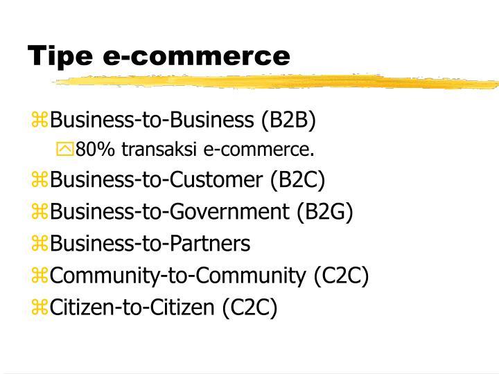 Tipe e-commerce