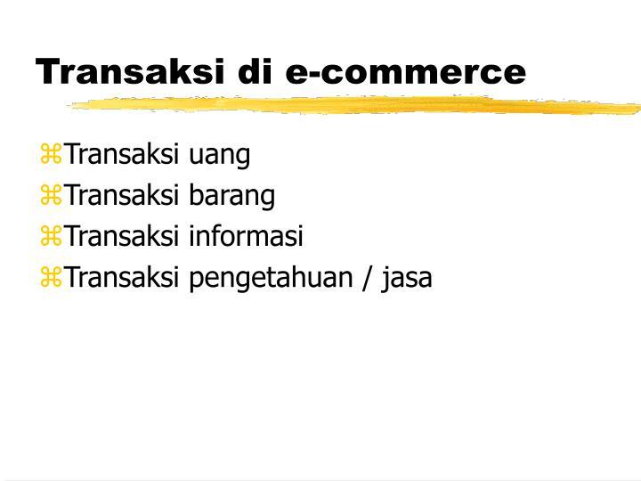 Transaksi di e-commerce