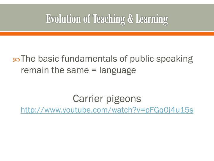 Evolution of Teaching & Learning