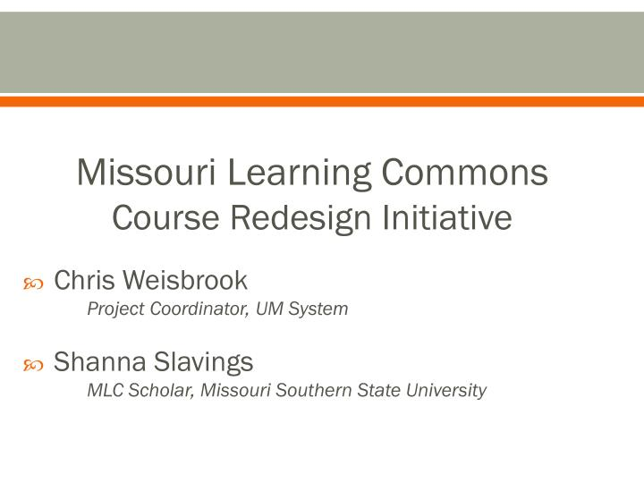 Missouri Learning Commons