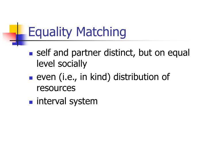 Equality Matching