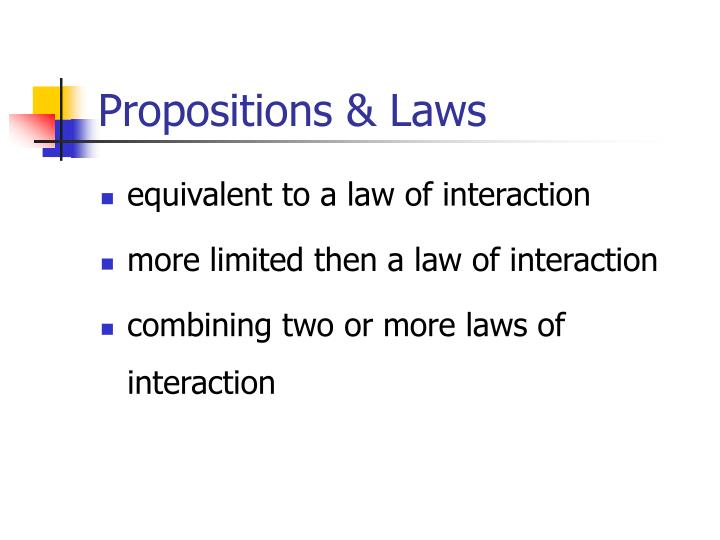 Propositions & Laws
