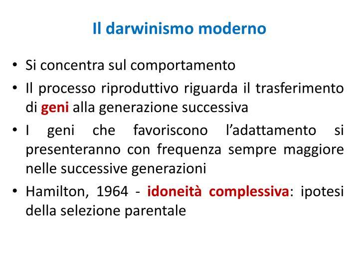 Il darwinismo moderno