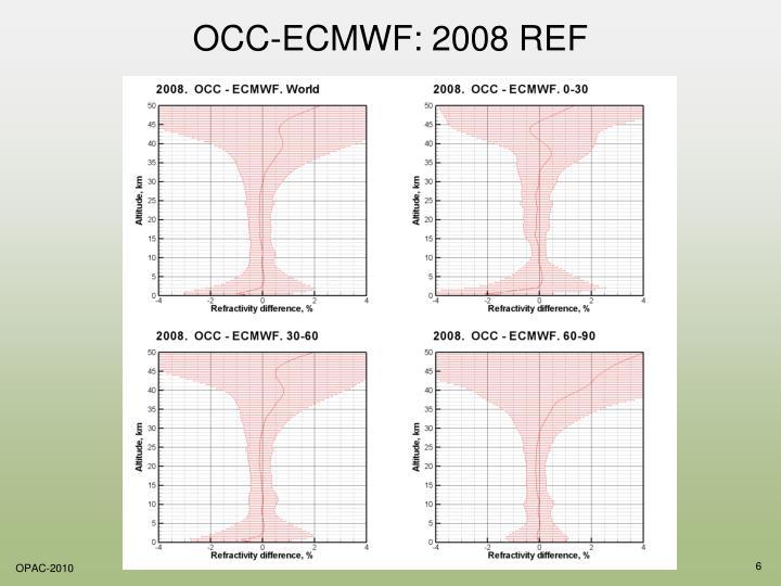 OCC-ECMWF: 2008 REF