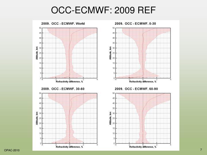 OCC-ECMWF: 2009 REF