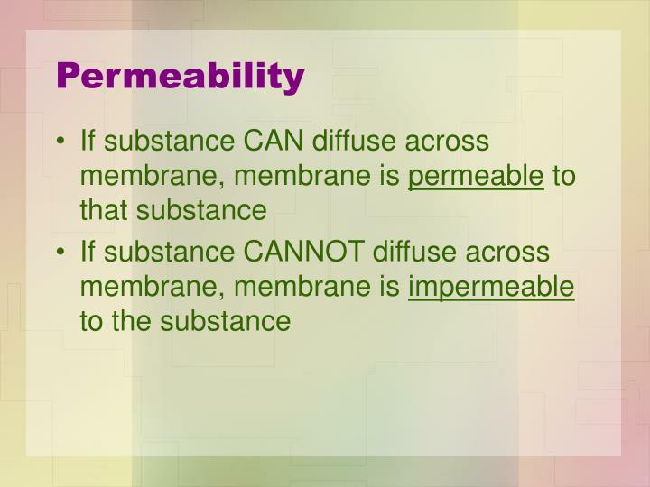 Permeability