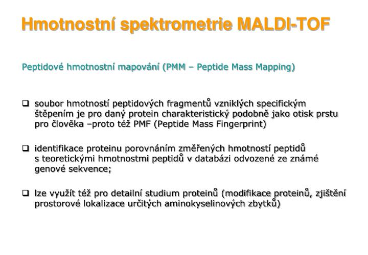Hmotnostní spektrometrie MALDI-TOF