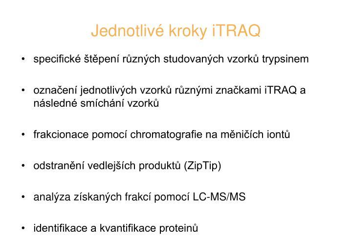 Jednotlivé kroky iTRAQ