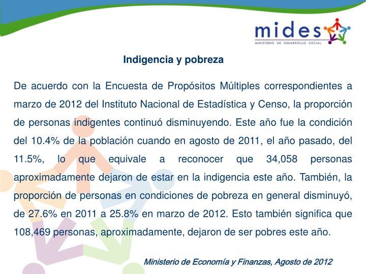 Indigencia y pobreza