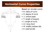 horizontal curve properties