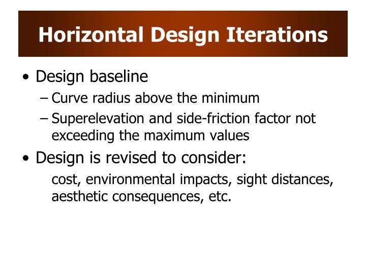 Horizontal Design Iterations