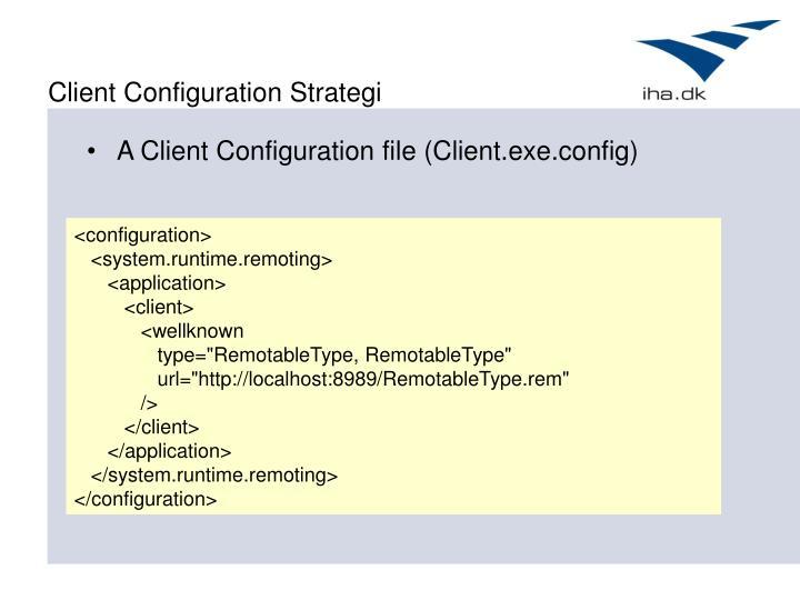 Client Configuration Strategi