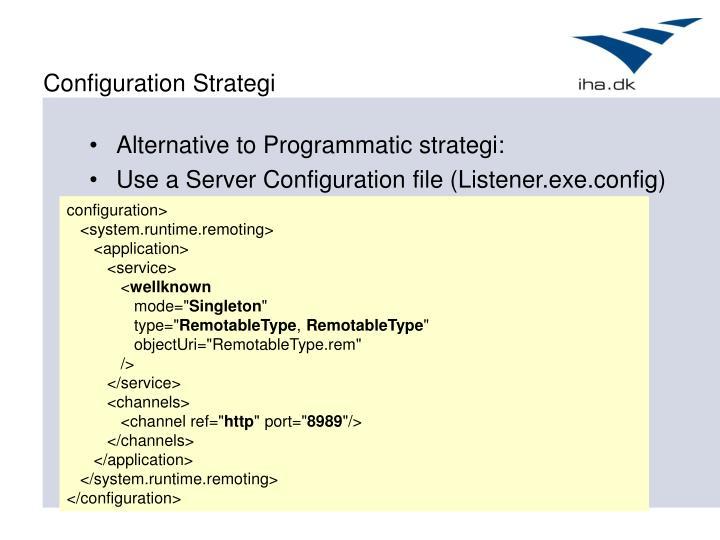 Configuration Strategi