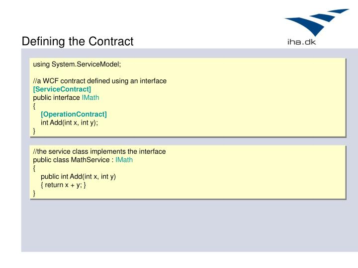 Defining the Contract