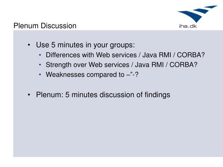 Plenum Discussion