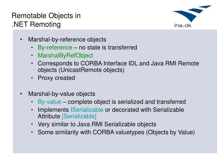 Remotable Objects in