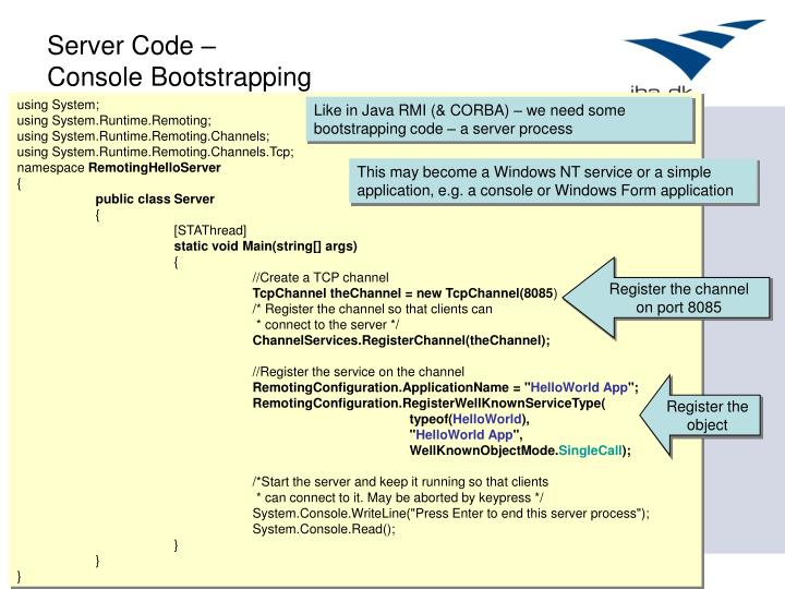 Server Code –