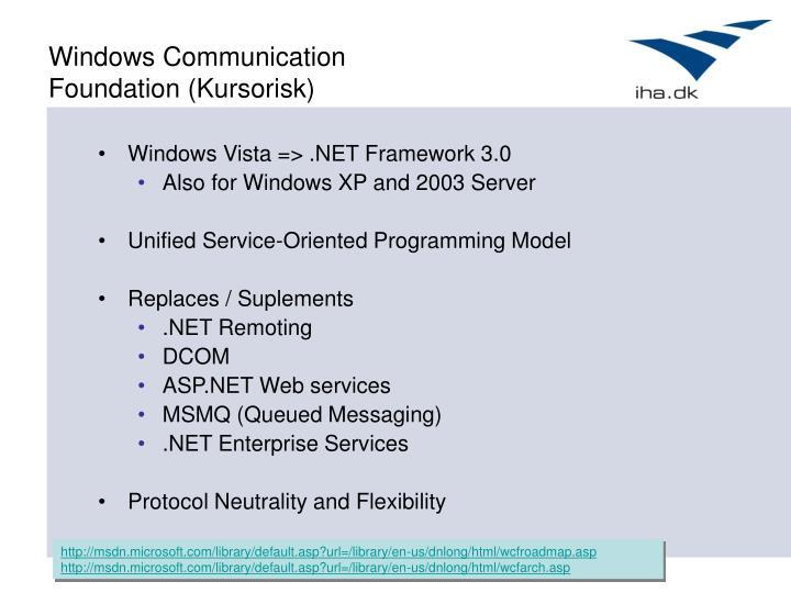 Windows Communication