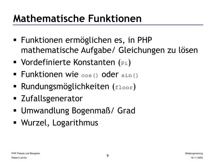 Mathematische Funktionen
