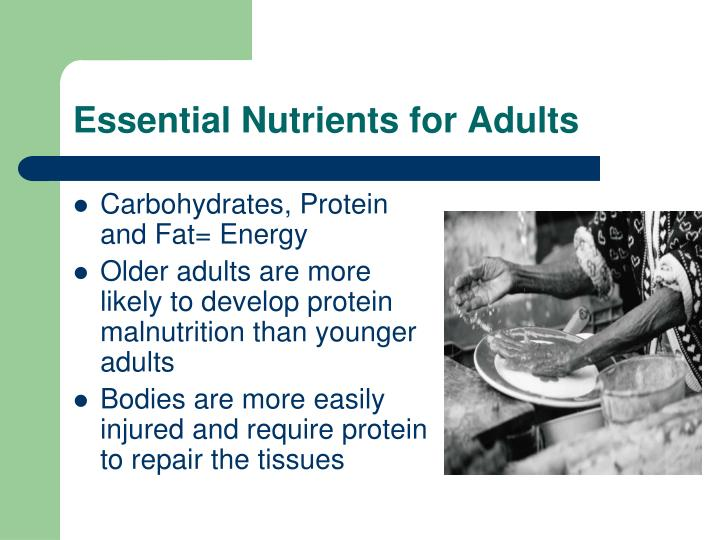 Essential Nutrients for Adults