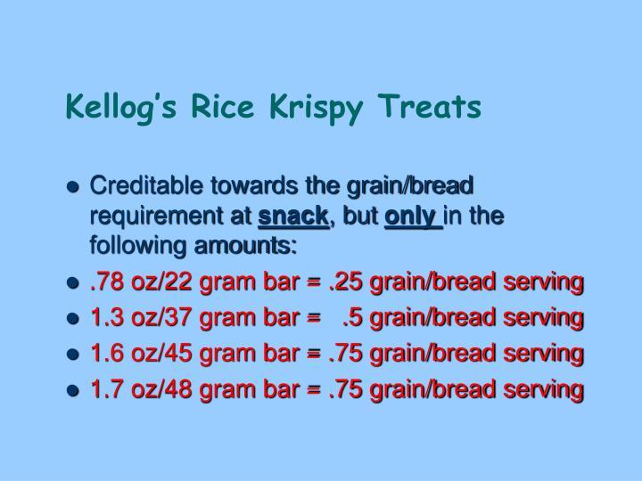 Kellog's Rice Krispy Treats