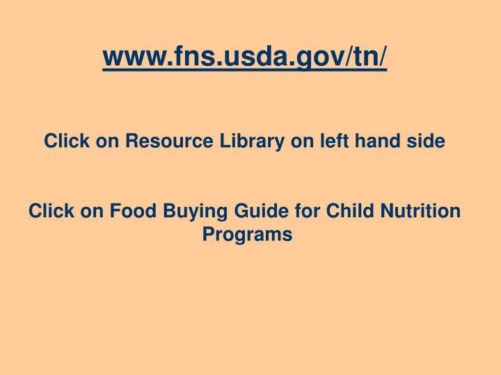 www.fns.usda.gov/tn/