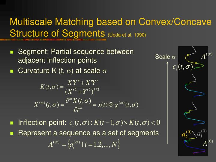 Multiscale Matching based on Convex/Concave Structure of Segments