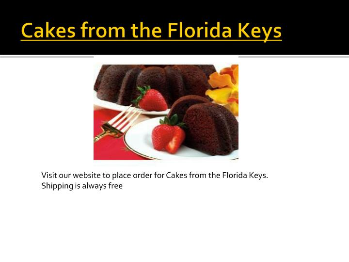 Cakes from the Florida Keys