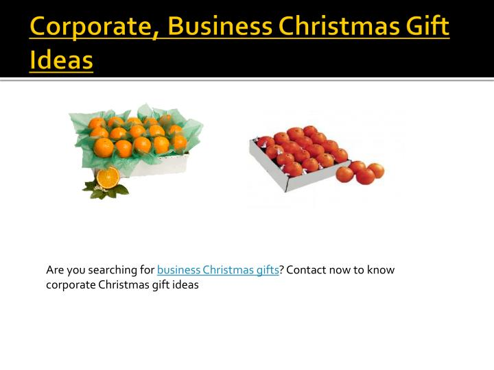 Corporate, Business Christmas Gift Ideas