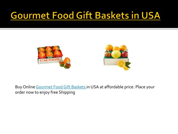 Gourmet Food Gift Baskets in USA