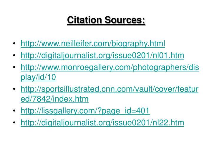 Citation Sources:
