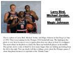 larry bird michael jordan and magic johnson
