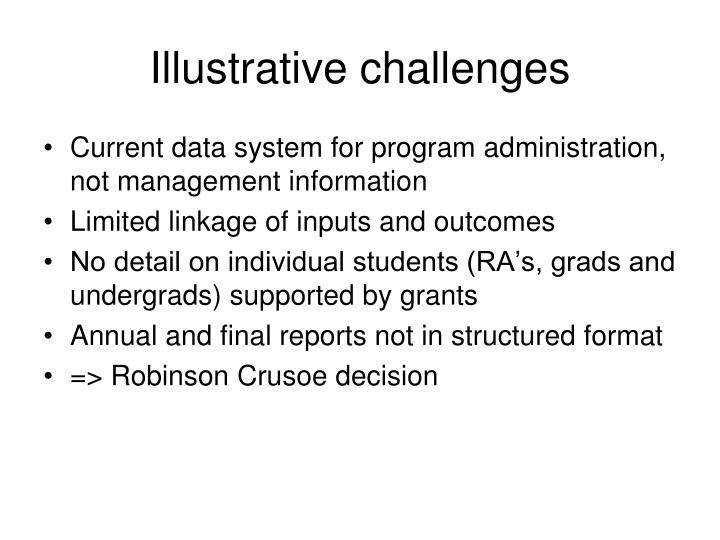 Illustrative challenges