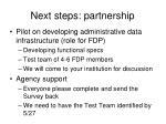 next steps partnership