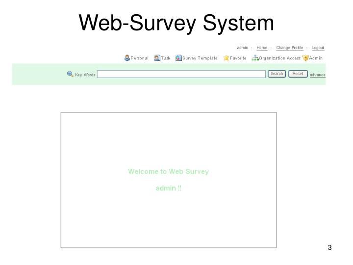 Web survey system
