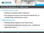 cost of fg operations 2 other costs
