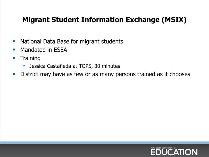 Migrant Student Information