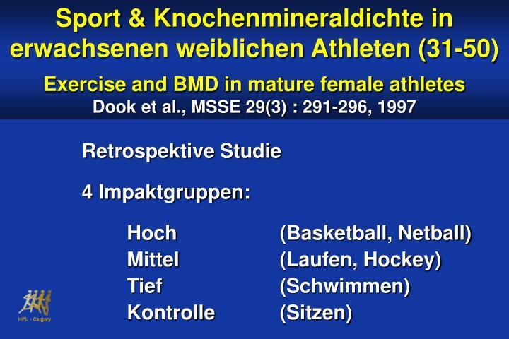 Sport & Knochenmineraldichte in erwachsenen weiblichen Athleten (31-50)