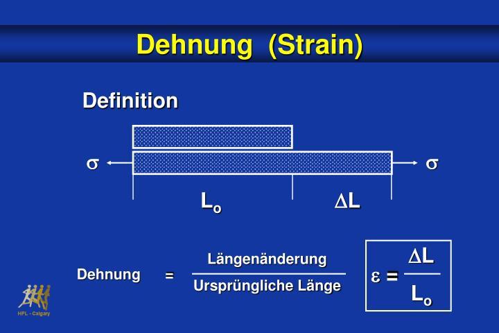 Dehnung  (Strain)