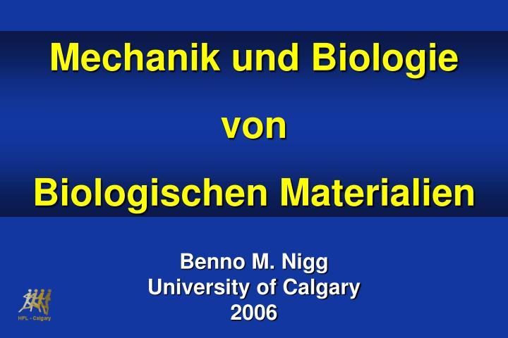 Mechanik und Biologie