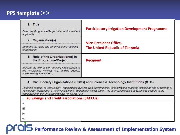 Participatory Irrigation Development Programme