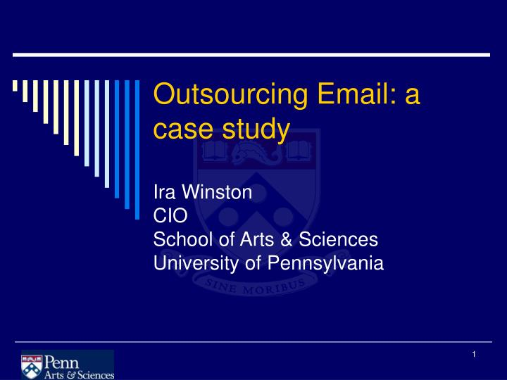 outsourcing case study