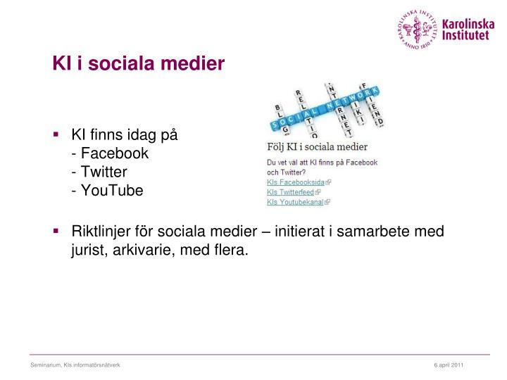KI i sociala medier