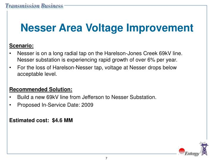 Nesser Area Voltage Improvement