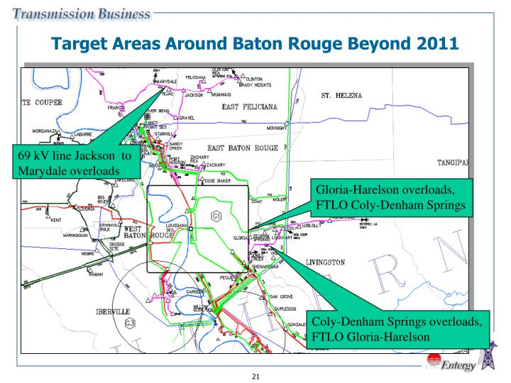 Target Areas Around Baton Rouge Beyond 2011