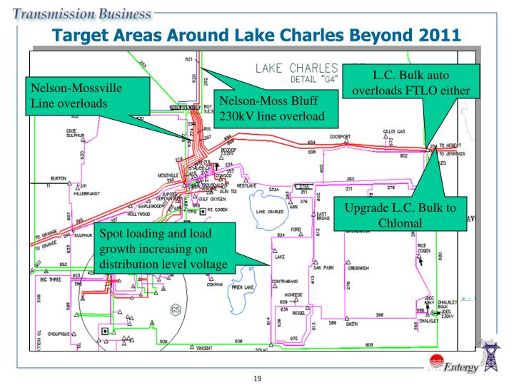 Target Areas Around Lake Charles Beyond 2011