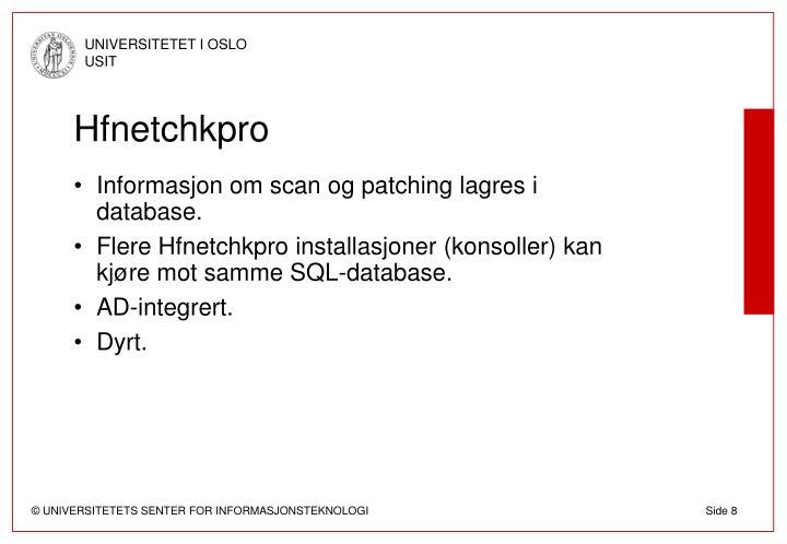 Hfnetchkpro