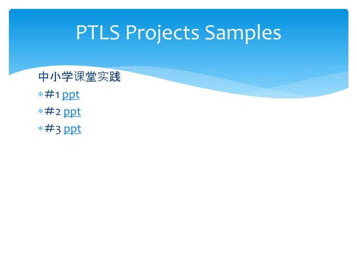 PTLS Projects Samples