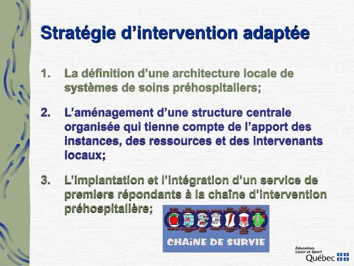 Stratégie d'intervention adaptée