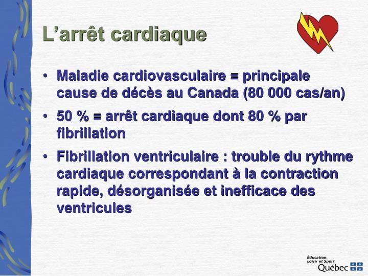 L'arrêt cardiaque